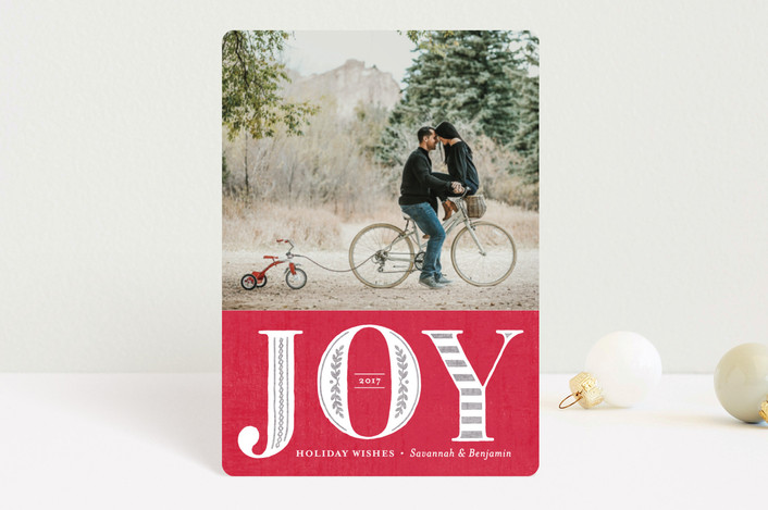"""""""Vintage Joy"""" - Vintage Holiday Petite Cards in Ruby by Griffinbell Paper Co.."""