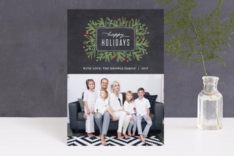Winter Foliage Frame Holiday Petite Cards