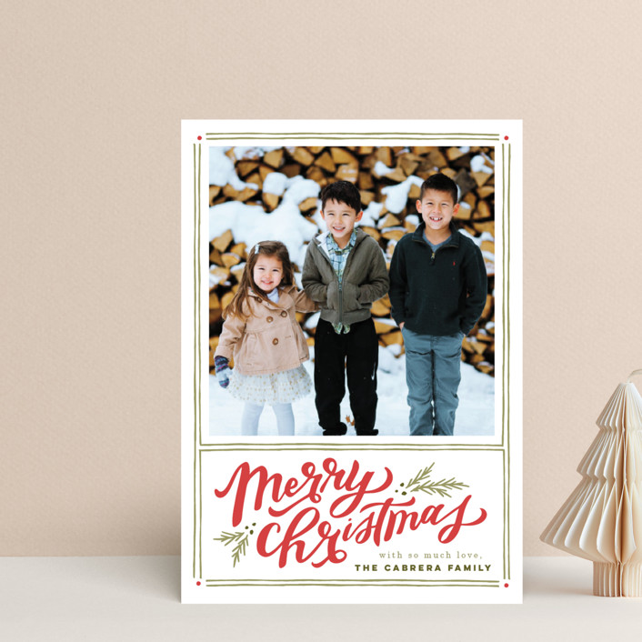 """A Very Merry Christmas"" - Vintage Holiday Petite Cards in Holly Berry by Wildfield Paper Co.."