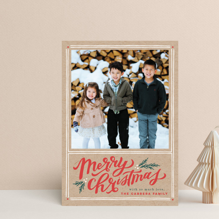 """A Very Merry Christmas"" - Vintage Holiday Petite Cards in Kraft by Wildfield Paper Co.."
