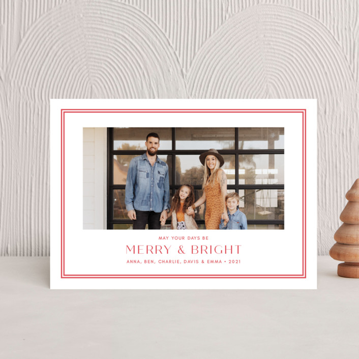 """""""Folly"""" - Holiday Petite Cards in Peppermint by Toast & Laurel."""