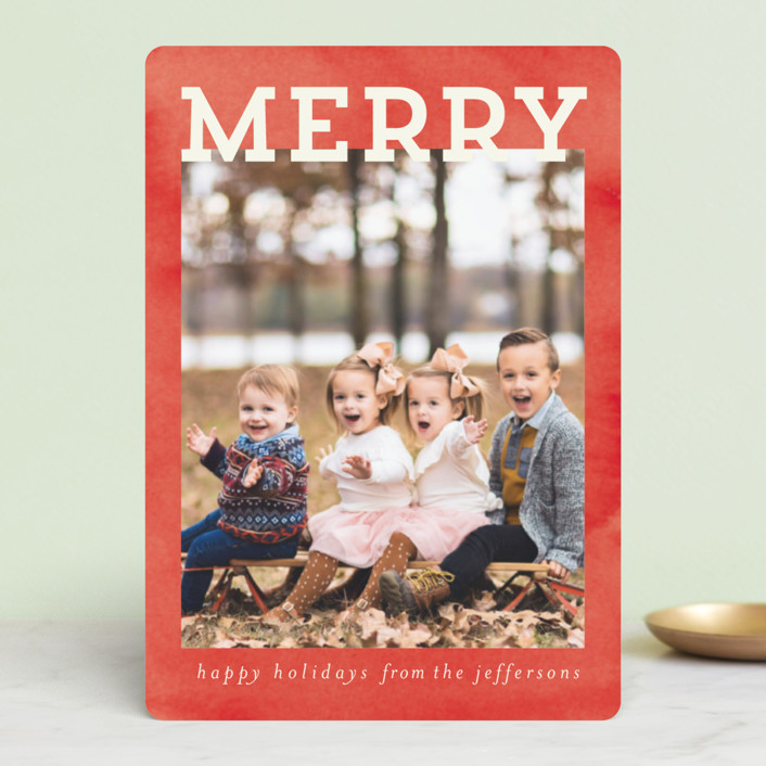 """Merry and Silly"" - Vintage Holiday Petite Cards in Cream by Chris Griffith."