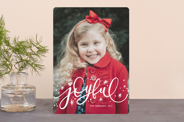 """Whimsically Joyful"" - Holiday Petite Cards in Snow by Iba Aziz."