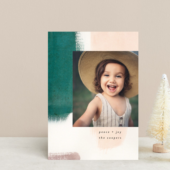 """Holiday Hues"" - Modern Holiday Petite Cards in Forest by Lindsay Megahed."