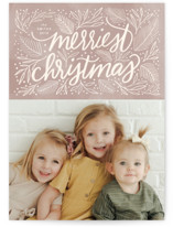 This is a brown petite holiday card by Cindy Reynolds called Soft Sentiment with standard printing on smooth signature in petite.