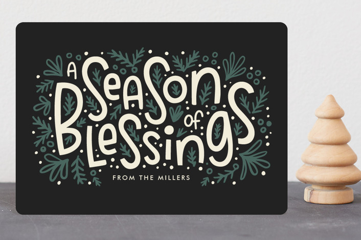 """""""Season of Blessings"""" - Holiday Petite Cards in Coal by Laura Hankins."""