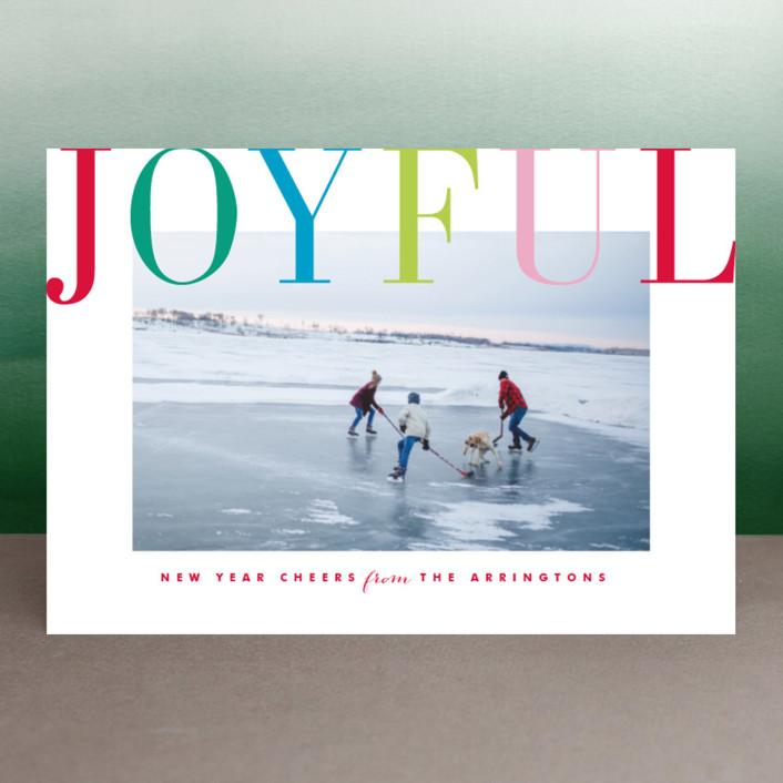 """Joyful Multi"" - Holiday Petite Cards in Blush by Kristie Kern."