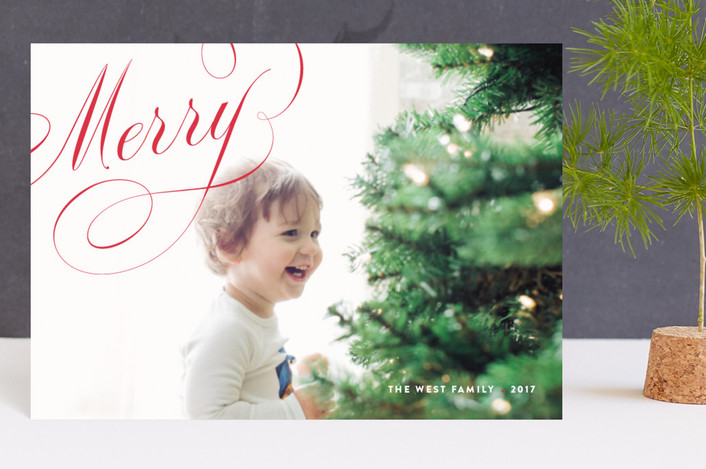"""""""Crosby"""" - Holiday Petite Cards in Cherry by kelli hall."""