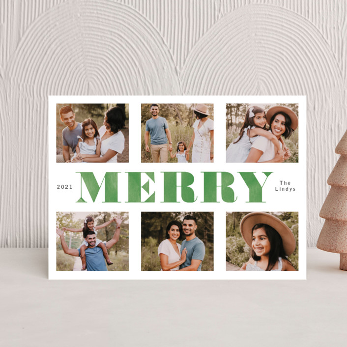 """""""Washed and Merry"""" - Holiday Petite Cards in Juniper by Betsy Siber."""