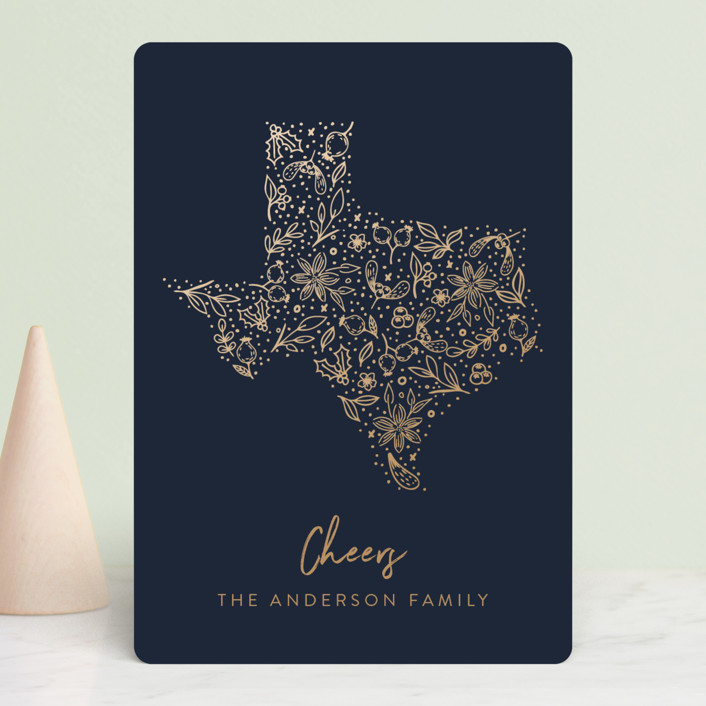"""Texas gold"" - Holiday Petite Cards in Midnight by My Splendid Summer."