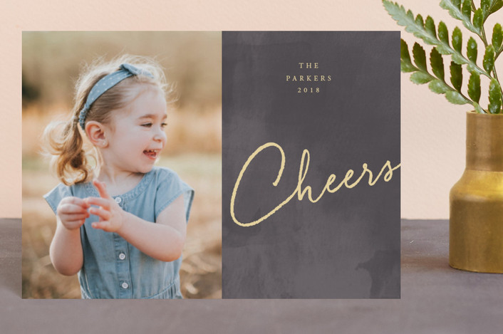 """A Simple Joy"" - Holiday Petite Cards in Coal by fatfatin."