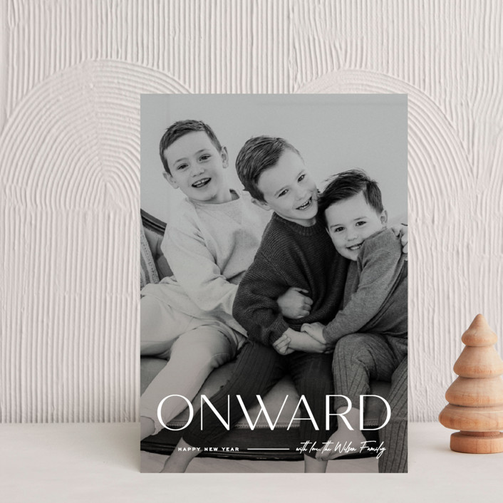 """""""Onward"""" - Holiday Petite Cards in Icing by Owl and Toad."""