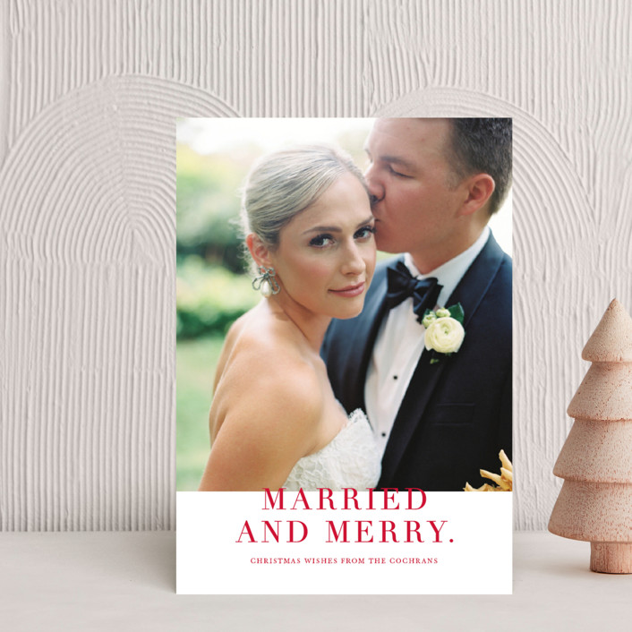 """""""Married and Merry"""" - Holiday Petite Cards in Candy by Vanessa Doyle."""