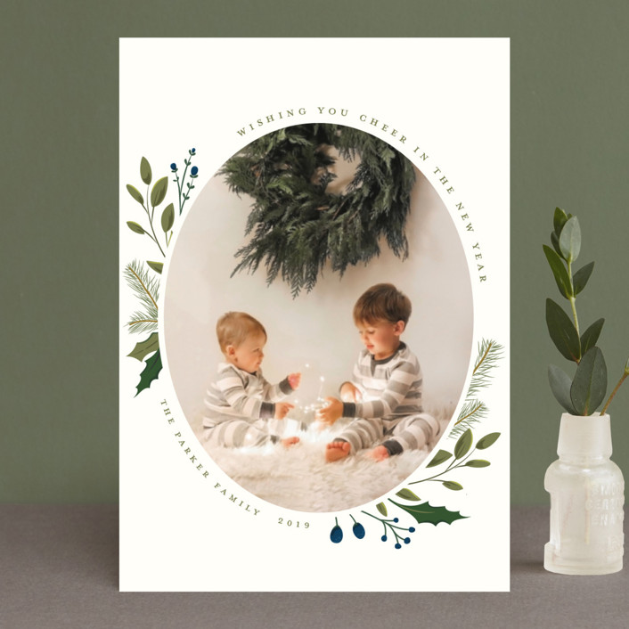 """""""Christmas Sprigs"""" - Holiday Petite Cards in Blueberry by Susan Moyal."""