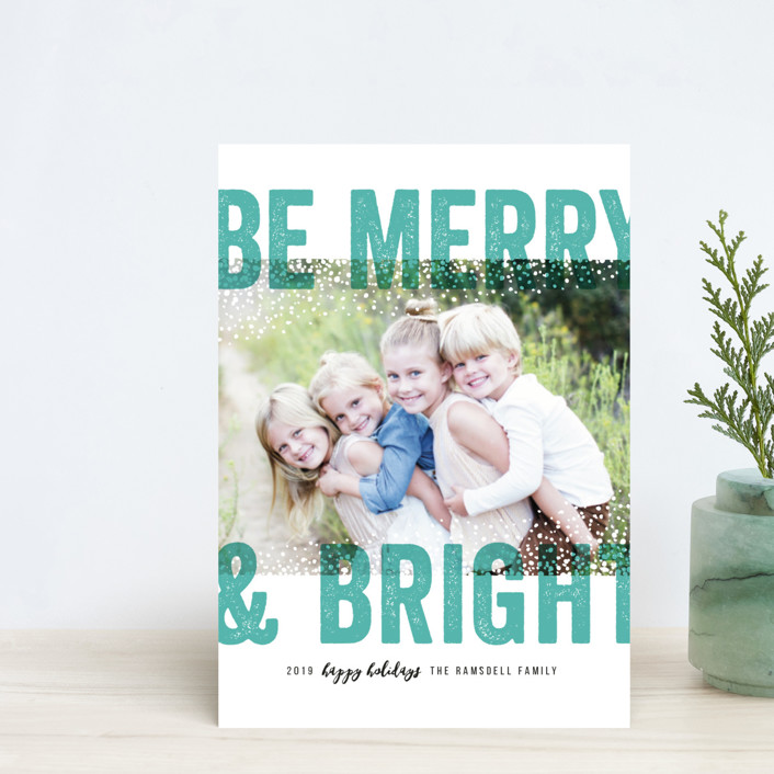 """Bold Snow"" - Holiday Petite Cards in Aqua by Michelle Taylor."