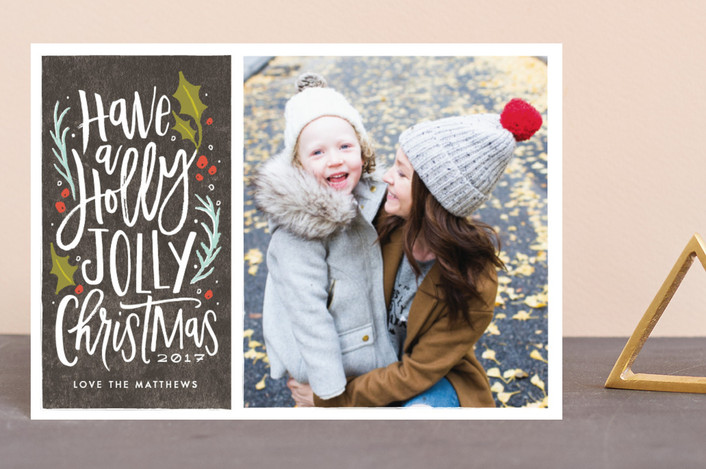 """""""holly jolly cheer"""" - Vintage Holiday Petite Cards in Graphite by Karidy Walker."""