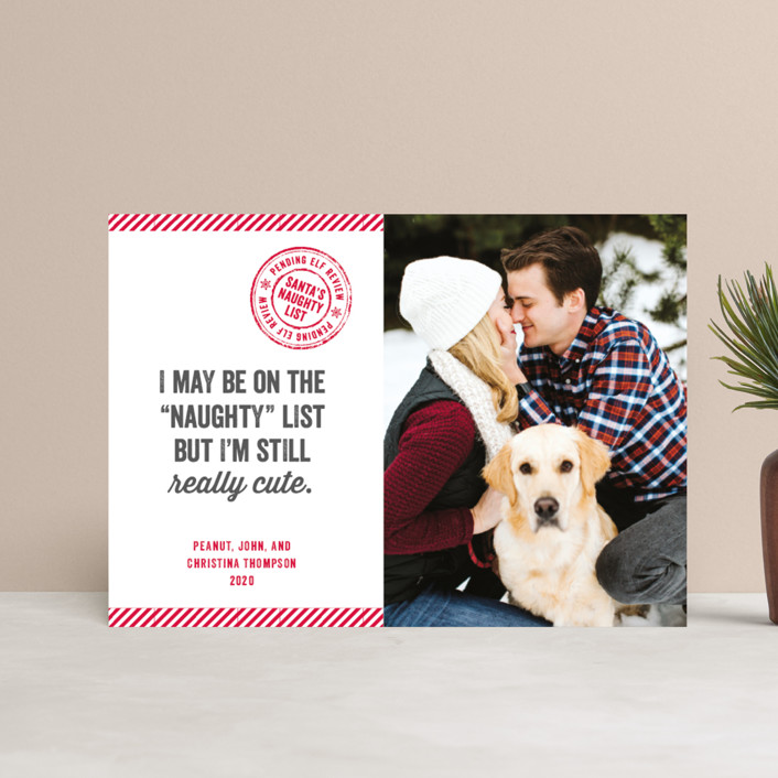 """Still Cute"" - Funny Holiday Petite Cards in Cherry by Paper Dahlia."