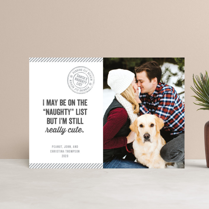 """""""Still Cute"""" - Funny Holiday Petite Cards in Cherry by Paper Dahlia."""