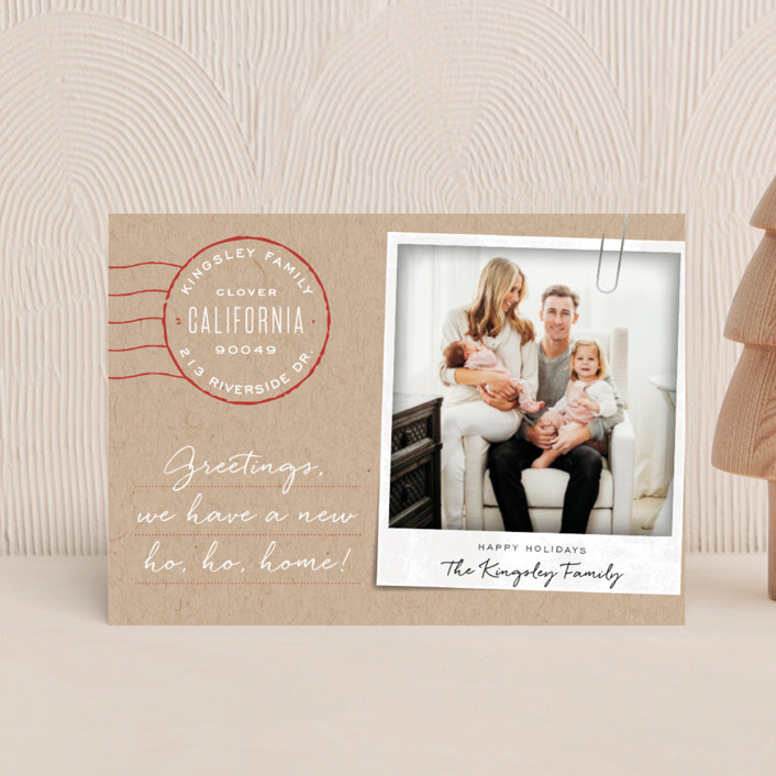 """""""Ho Ho Home"""" - Holiday Petite Cards in Kraft by Leah Bisch."""