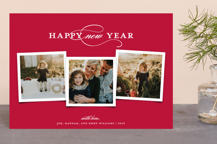 """""""Elegant Trio"""" - Holiday Petite Cards in Cranberry by Paper Dahlia."""
