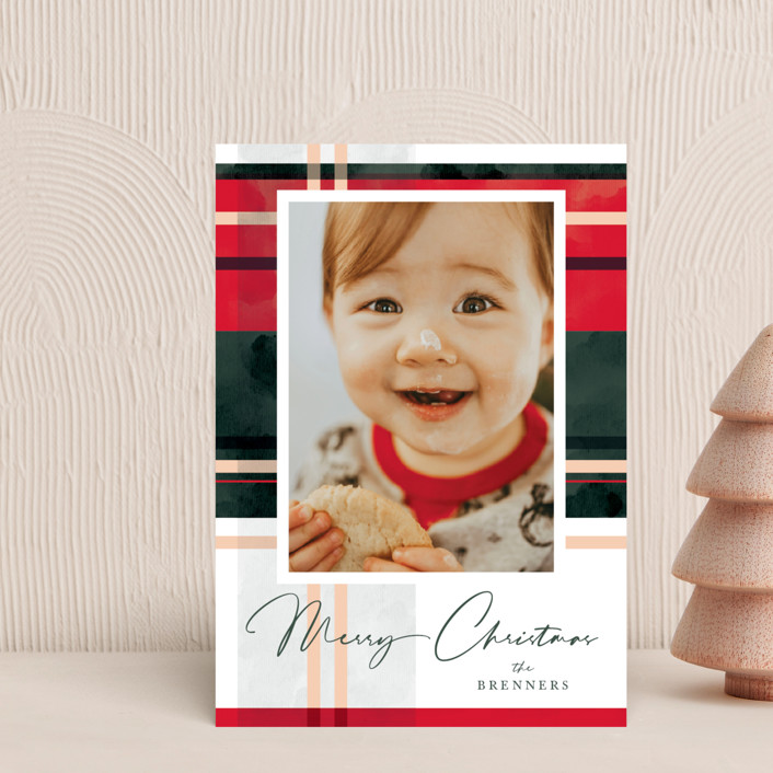"""""""Plaid Popover"""" - Vintage Holiday Petite Cards in Evergreen by Carrie ONeal."""