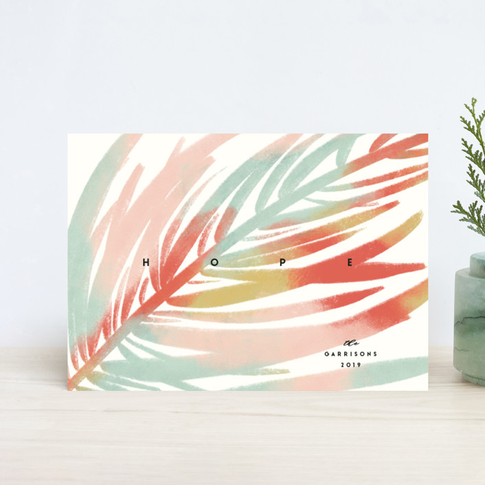 """""""Colorful Pine"""" - Holiday Petite Cards in Rainbow by Gwen Bedat."""