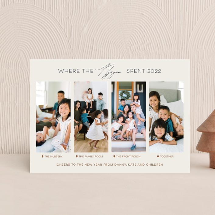 """""""Together Is Our Favorite Place"""" - Funny Holiday Petite Cards in Spice by Carolyn Kach."""