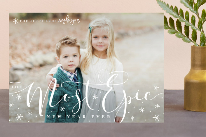 """""""merriest season ever"""" - Holiday Petite Cards in Snow by Guess What Design Studio."""