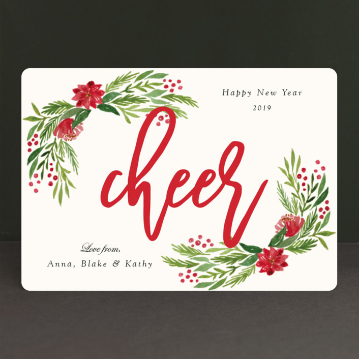 """Merry Floral"" - Holiday Petite Cards in Holly by Elly."