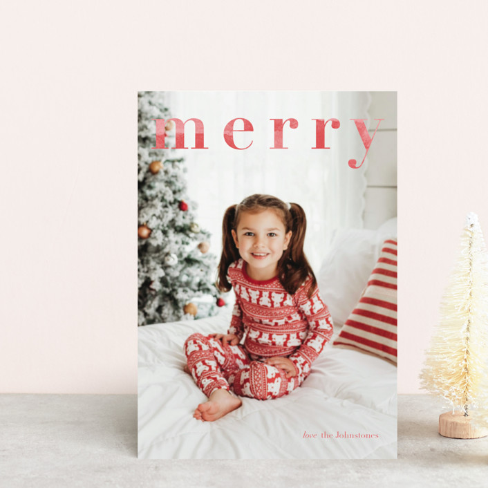 """Merry Merry"" - Holiday Petite Cards in Candy Cane by Tennie and Co.."