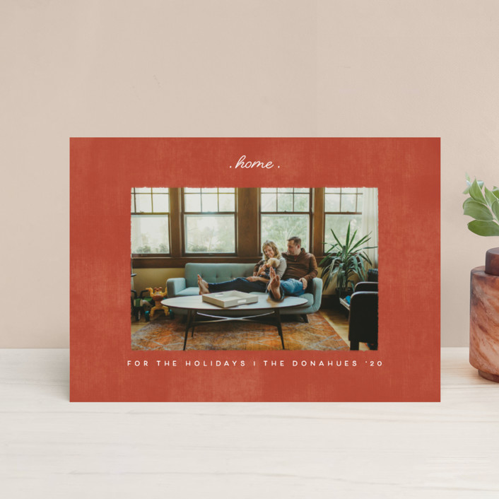 """""""staying at home"""" - Holiday Petite Cards in Brick by Becky Nimoy."""