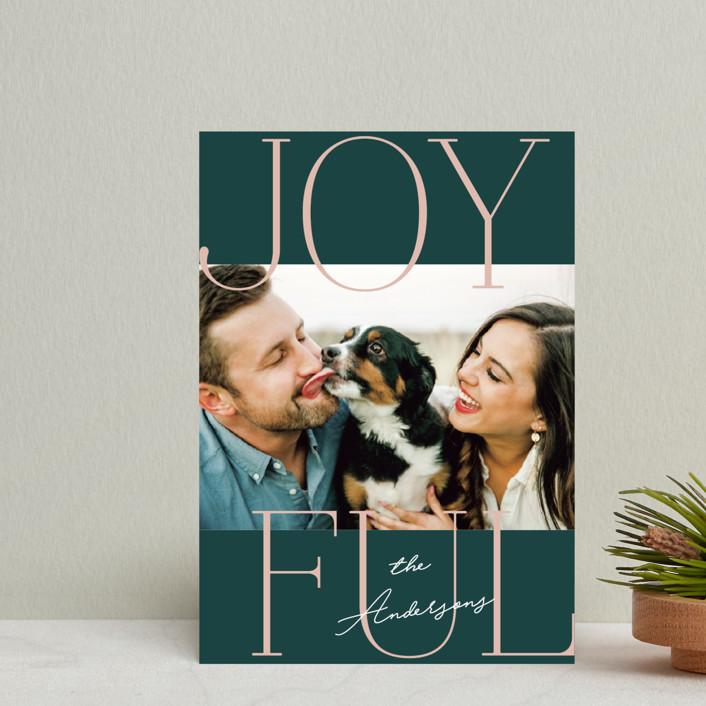 """Joyful Serif"" - Holiday Petite Cards in Pine by Kerry Doyle - Paper Dahlia."