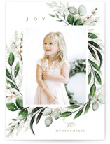 This is a green petite holiday card by Petra Kern called Solstice with standard printing on smooth signature in petite.