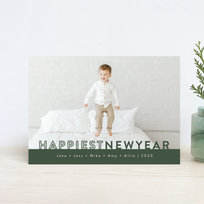 """""""The Happiest"""" - Holiday Petite Cards in Pine by Kasia Labocki."""