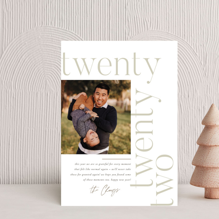 """""""Modern Letter"""" - Holiday Petite Cards in Cloud by Robert and Stella."""