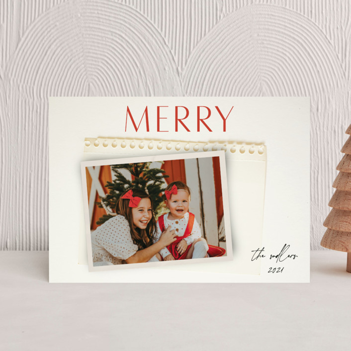 """""""Nostalgia"""" - Holiday Petite Cards in Holly Berry by Morgan Kendall."""