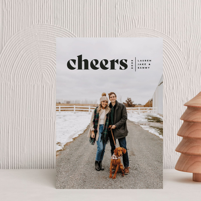 """""""Cheers Bold"""" - Holiday Petite Cards in Raven by Owl and Toad."""