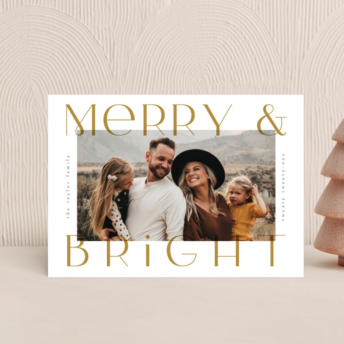 """""""Merriest&Bright"""" - Holiday Petite Cards in Golden by Ana de Sousa."""