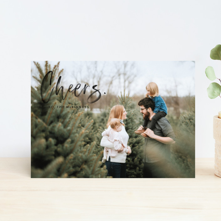 """""""Merry Painted"""" - Holiday Petite Cards in Onyx by Erika Firm."""