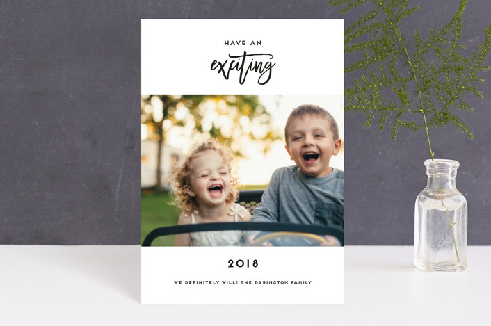 """""""So Excited"""" - Holiday Petite Cards in Tuxedo by Simona Cavallaro."""