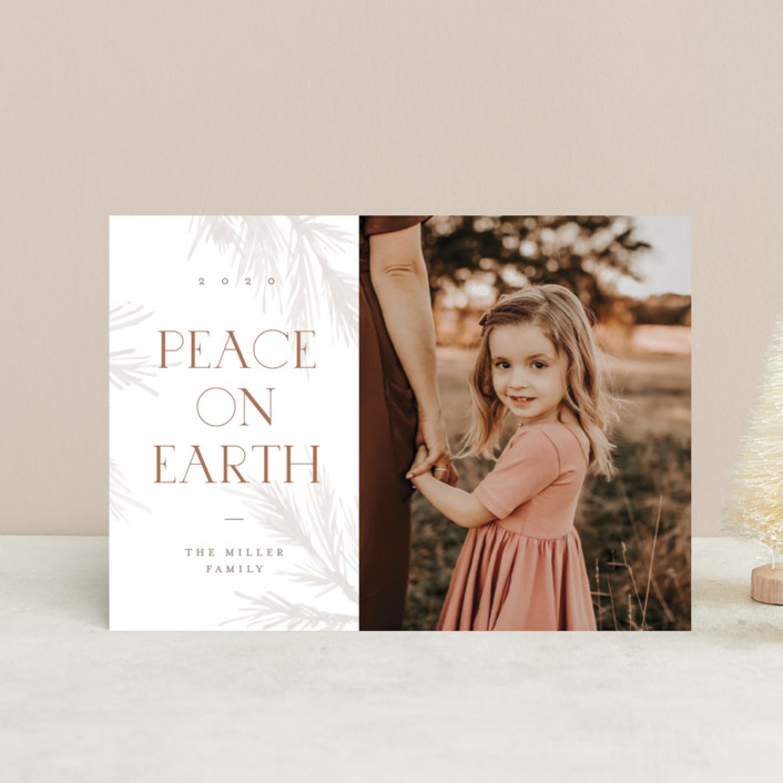"""""""All Peace"""" - Holiday Petite Cards in Burnt by Pixel and Hank."""