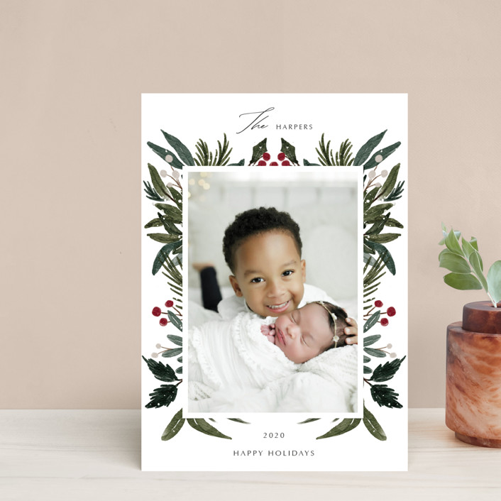 """""""Festive Love"""" - Holiday Petite Cards in Fern by Elly."""