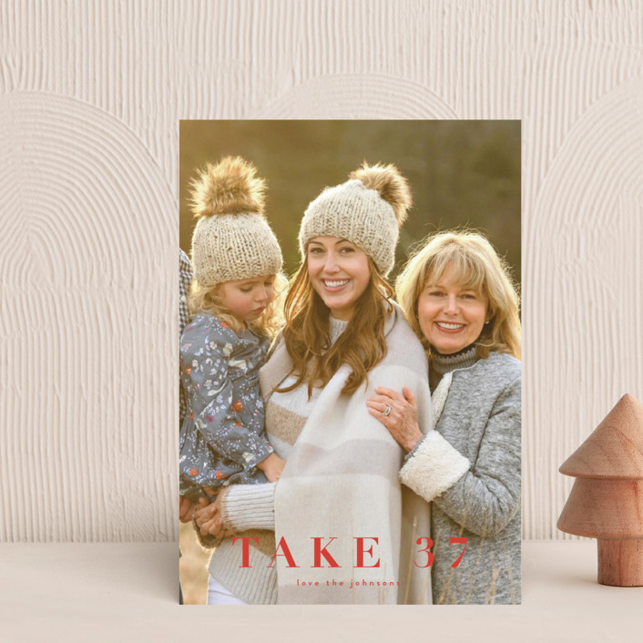 """""""take 37"""" - Funny Holiday Petite Cards in Holly by Kasia Labocki."""