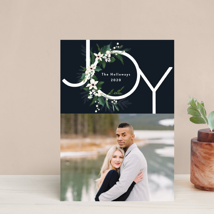 """Joy & Greenery"" - Holiday Petite Cards in Juniper by Susan Moyal."