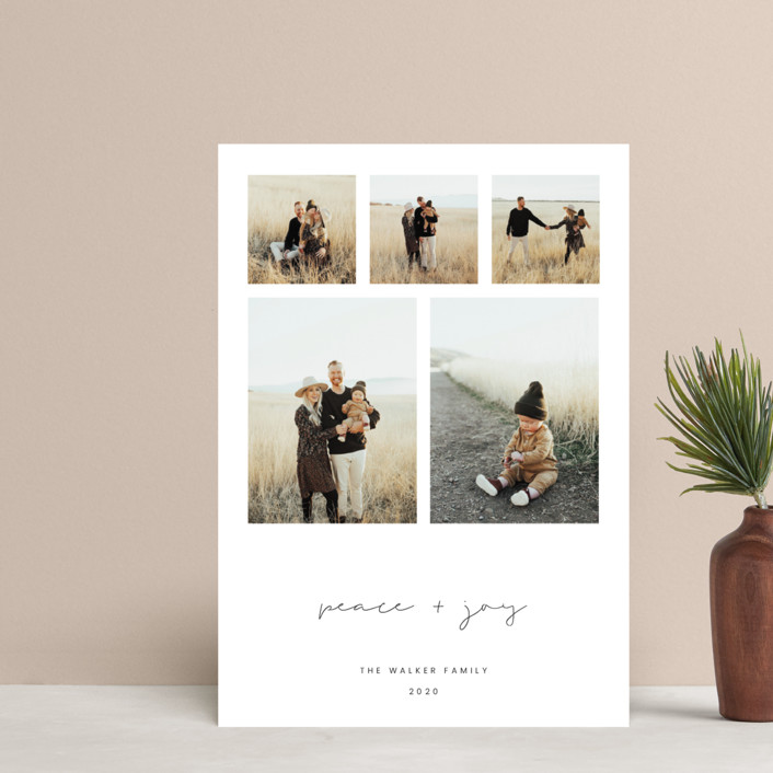 """""""Peace & Joy"""" - Holiday Petite Cards in Charcoal by Blustery August."""