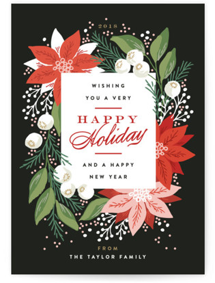 Greeting Card Floral Holiday Petite Cards
