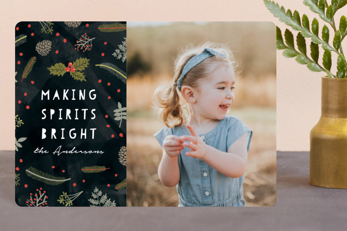 """""""Bright Spirit"""" - Holiday Petite Cards in Coal by iamtanya."""