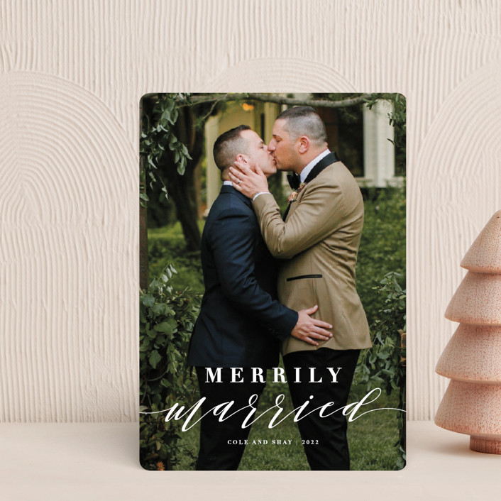 """""""Merrily Married"""" - Holiday Petite Cards in Snow by Roxy Cervantes."""