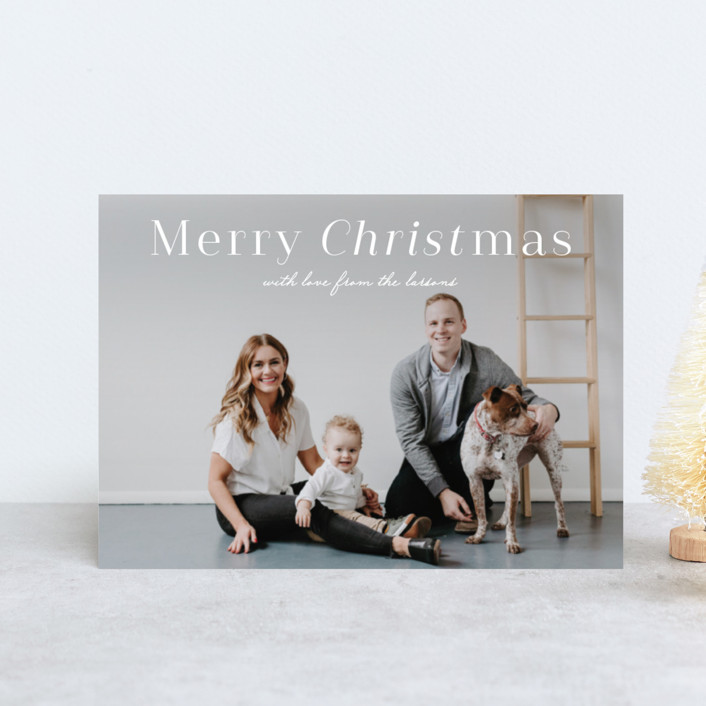 """""""Christ Emphasis"""" - Holiday Petite Cards in Snow by Lauren Chism."""