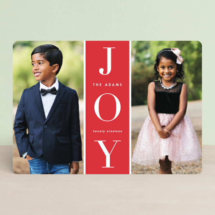 """""""Original Joy"""" - Holiday Petite Cards in Poinsettia by heythird."""